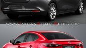 2019 Mazda3 Sedan Vs 2016 Mazda3 Sedan Rear Three