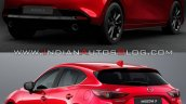 2019 Mazda3 Vs 2016 Mazda3 Rear Three Quarters