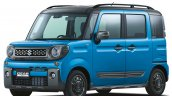 Suzuki Gear Spacia Blue Front Three Quarters