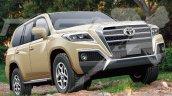 2020 Toyota Land Cruiser Front Three Quarters Rend