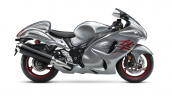 2019 Suzuki Hayabusa Grey Red Side Profile