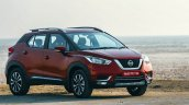 Nissan Kicks Front Three Quarters Red Colour