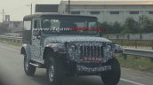 Next Gen Mahindra Thar Front Three Quarters Spy Sh