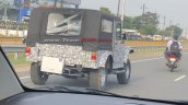 Next Gen Mahindra Thar Rear Three Quarters Spy Pho