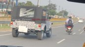 Next Gen Mahindra Thar Rear Three Quarters Spy Sho