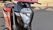Ktm 125 Duke Abs Review Detail Shots Headlight