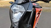 Ktm 125 Duke Abs Review Detail Shots Headlight And