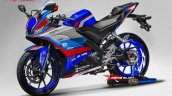 Yamaha Yzf R15 Motogp Safety Bike Livery Blue Rend