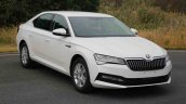 2019 Skoda Superb Facelift Front Three Quarters Le
