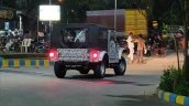 2020 Mahindra Thar Rear Three Quarters Spy Shot