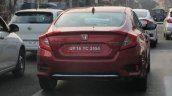 2019 Honda Civic Zx Red Rear Three Quarters