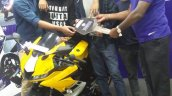 Yamaha Yzf R15 Yellow Delivered In Bangalore Front