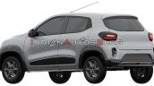 Renault Kwid Ev Rear Three Quarters