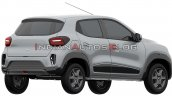 Renault Kwid Ev Rear Three Quarters Right Side