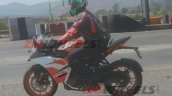 Ktm Rc125 Spied In India Left Side