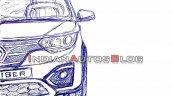 Renault Triber Front Sketch