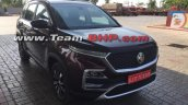 Mg Hector Front Three Quarters Image Purple Colour