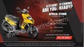 Aprilia Storm India Launch Details Banner
