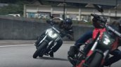 Bajaj Dominar 400 Tvc Red And Silver Action Shot