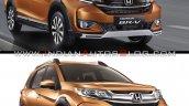 2019 Honda Br V Vs 2016 Honda Br V Front Three Qua
