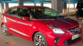 Red Toyota Glanza Front Three Quarters Spy Shot