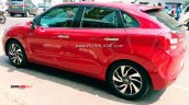 Red Toyota Glanza Left Side Spy Photo