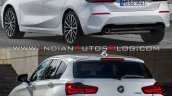 2019 Bmw 1 Series Vs 2015 Bmw 1 Series Rear Three