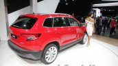 Skoda Karoq Rear Three Quarters Right Showcased At