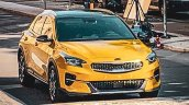 Kia Xceed Front Three Quarters Spy Picture