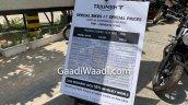 Discounts On Triumph Bikes Triumph Delhi Banner