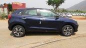 Blue Toyota Glanza Profile Spy Shot