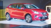 Toyota Glanza Front Three Quarters Live Image