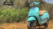 Avera Retrosa Electric Scooter Turquoise Blue