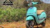 Avera Retrosa Electric Scooter Turquoise Blue