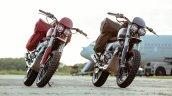 Royal Enfield Interceptors Great Malle Rally Right