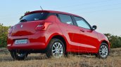 2018 Maruti Swift Test Drive Review Rear Angle Low