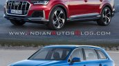 2019 Audi Q7 Vs 2015 Audi Q7 Front Three Quarters