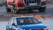 2019 Audi Q7 Vs 2015 Audi Q7 Front Three Quarters
