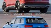 2019 Audi Q7 Vs 2015 Audi Q7 Rear Three Quarters