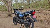 Bajaj Platina 110 H Gear Review Black And Blue Lef