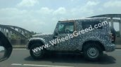 2020 Mahindra Thar Hard Top Profile Spy Shot