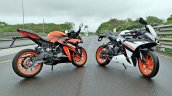 Ktm Rc125 Review Still Shots Orange And White Pain