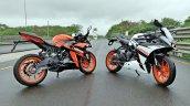 Ktm Rc125 Review Still Shots Orange And White Pain