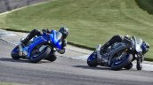 2020 Yamaha Yzf R1 And Yzf R1m Action Shot Front