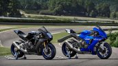 2020 Yamaha Yzf R1m And Yzf R1 Still Shot Right Fr