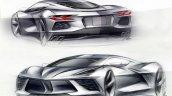 2020 Chevrolet Corvette Stingray Sketch Quarters