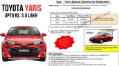 Rs 3 5 Lakh Discount 0 Finance On Toyota Yaris 106