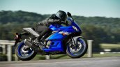 2020 Yamaha R3 Icon Blue Side Profile Motion