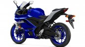 2020 Yamaha R3 Rear Three Quarters Studio Icon Blu