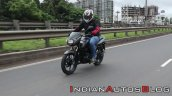 Bajaj Pulsar 125 Action Shot Left Front Quarter